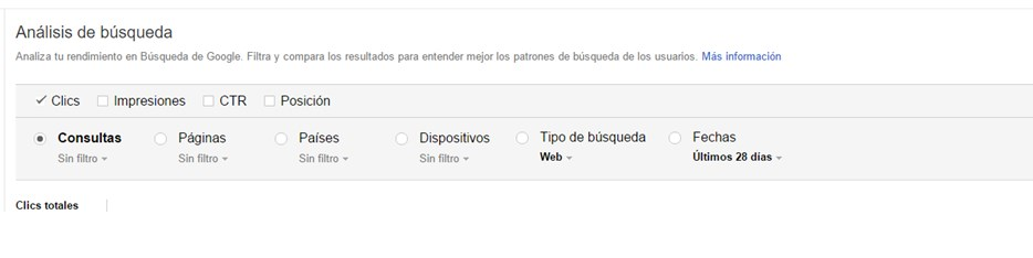 analisis de busqueda search console